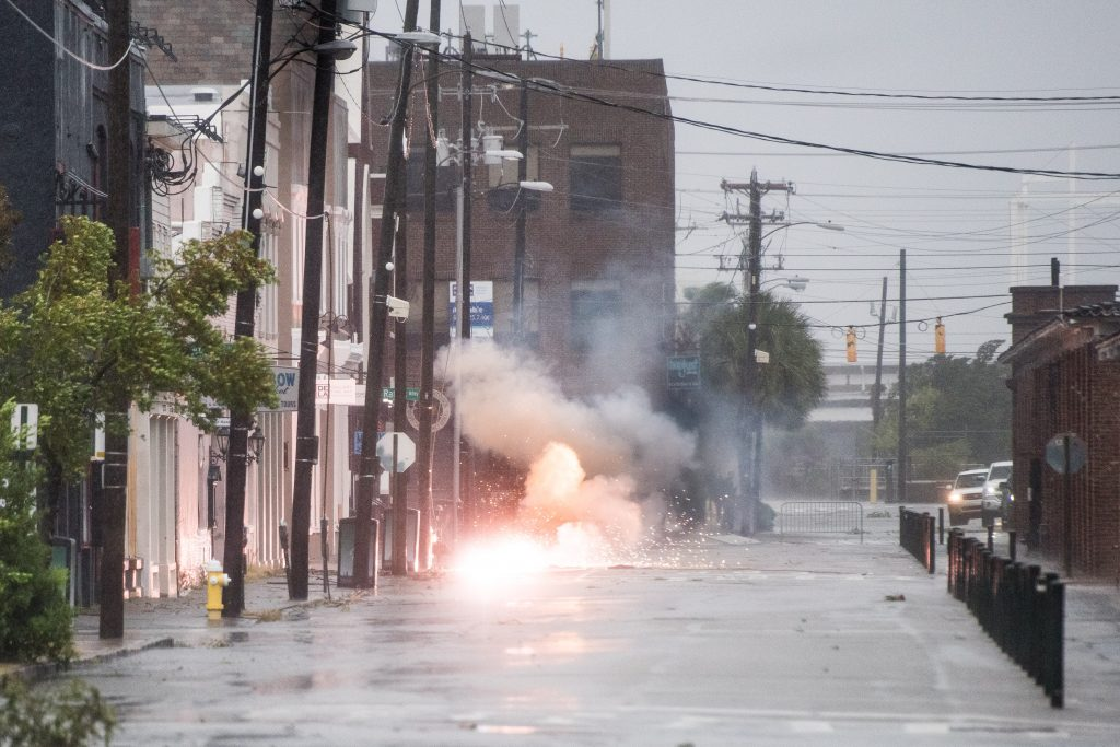 Floodwaters Rise In Charleston As Hurricane Dorian Skirts