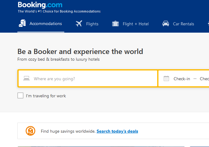 Online Purchase Booking Accommodations