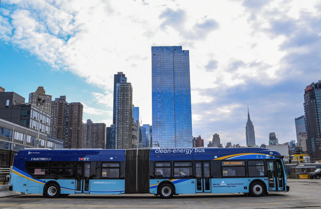 new york electric bus