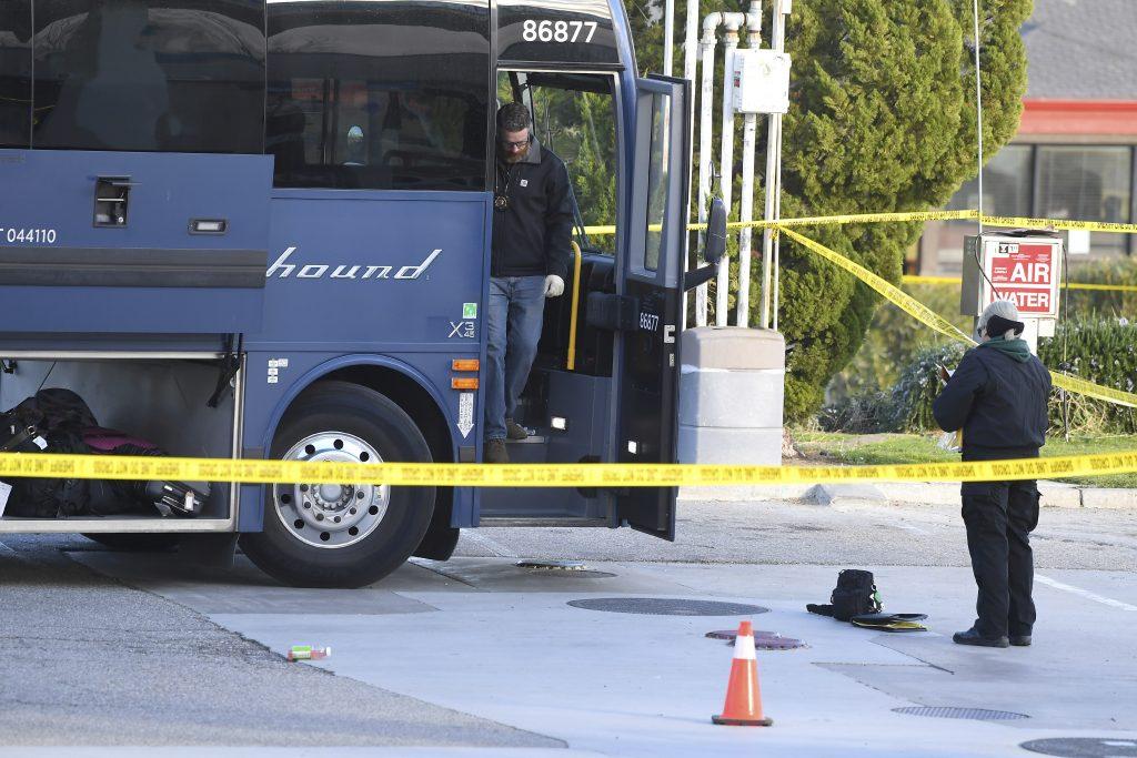 greyhound bus shooting california