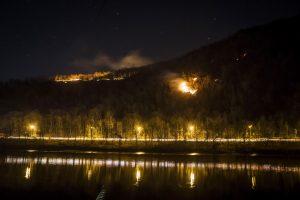fire delaware river