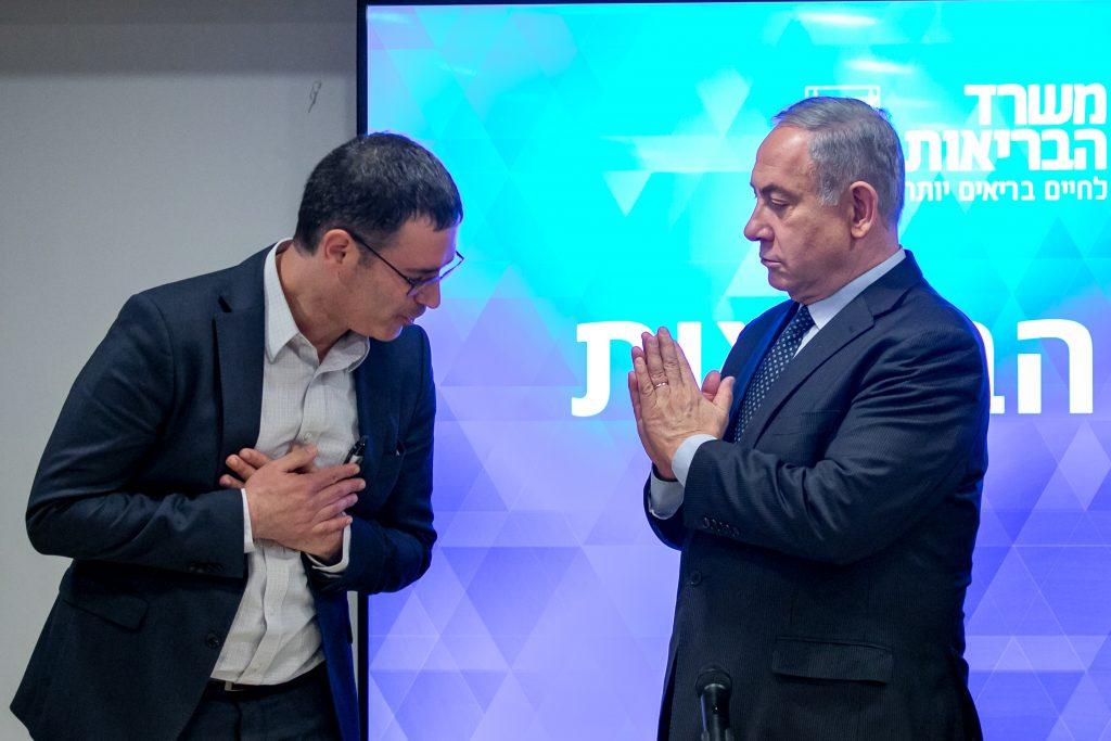 netanyahu shake hands