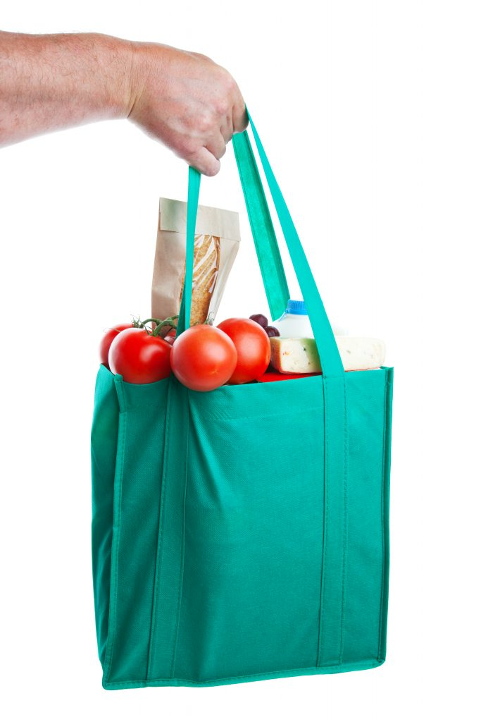 reusable shopping bag, new york plastic bag ban