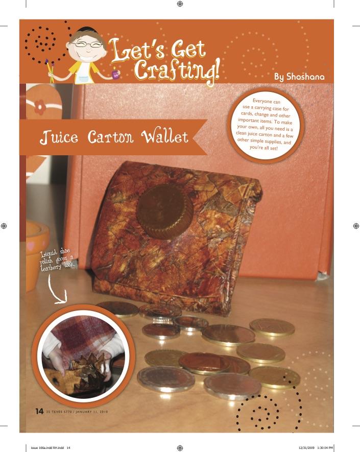 Let's Get Crafting: Juice Carton Wallets