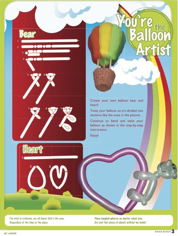 Hamodia Children's Activities: You're the Balloon Artist