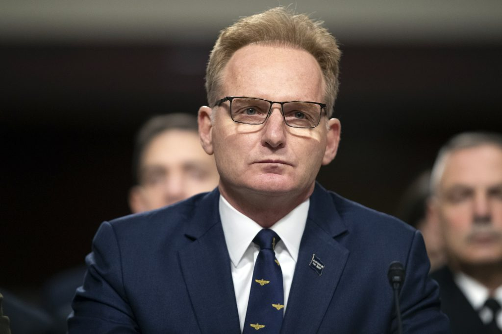navy secretary resigned