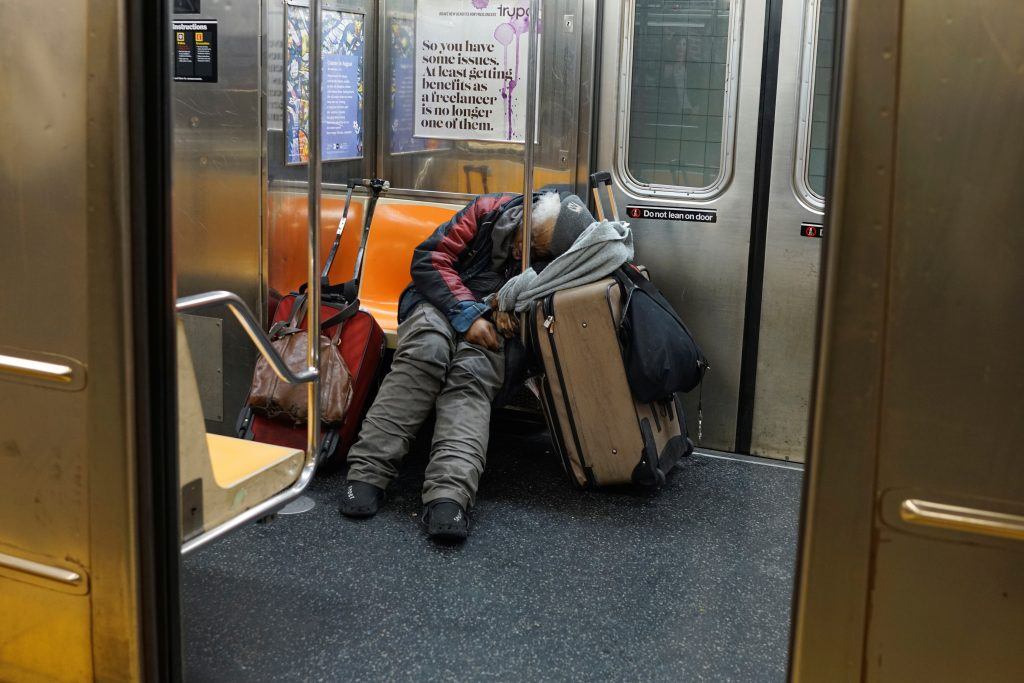 new york subway homeless