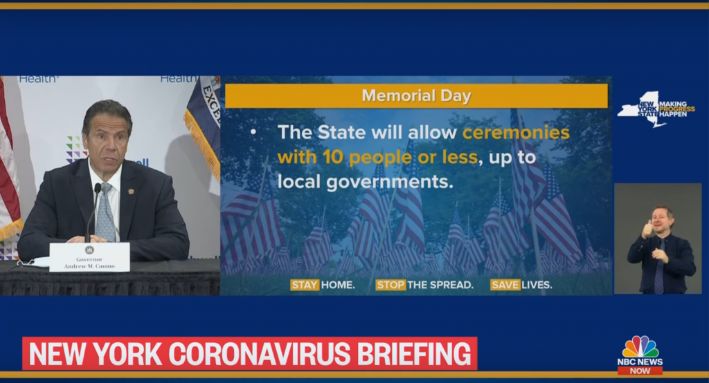 cuomo memorial day celebration