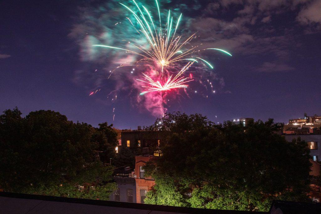 de blasio fireworks
