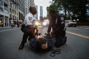 new york curfew protests