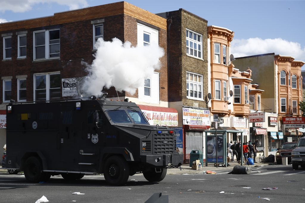 philadelphia tear gas