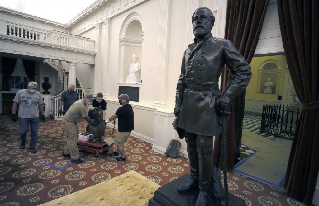 virginia capitol confederate statues