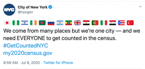 nyc tweet palestinian flag