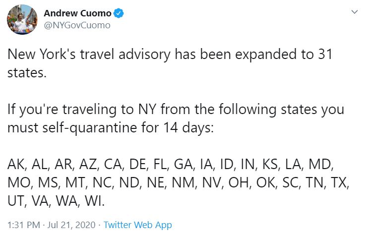 new york quarantine
