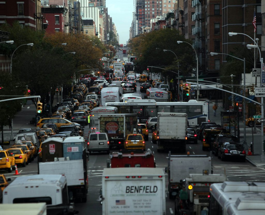 de blasio cars, new york traffic