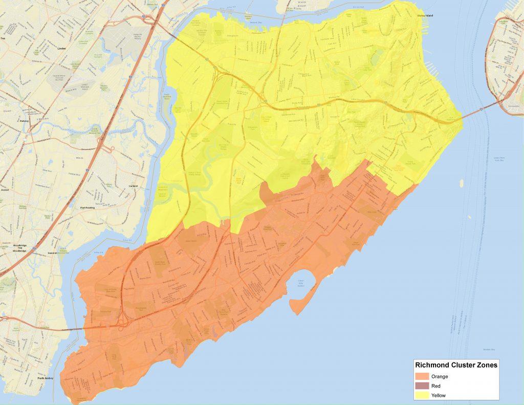 new york covid zones