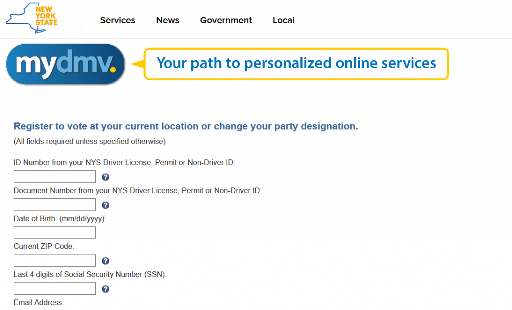 New York party registration deadline