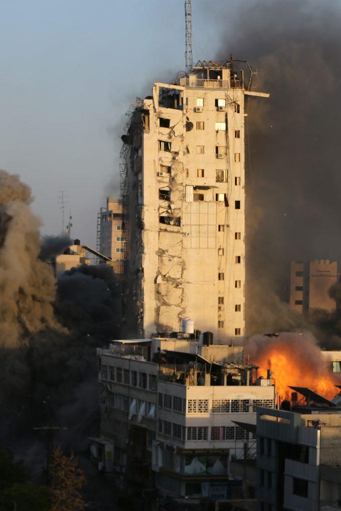 israel gaza high rise